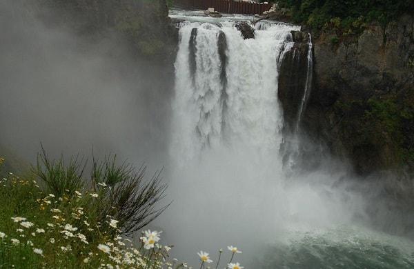 Водопад Snoqualmie Сиэтл Сша
