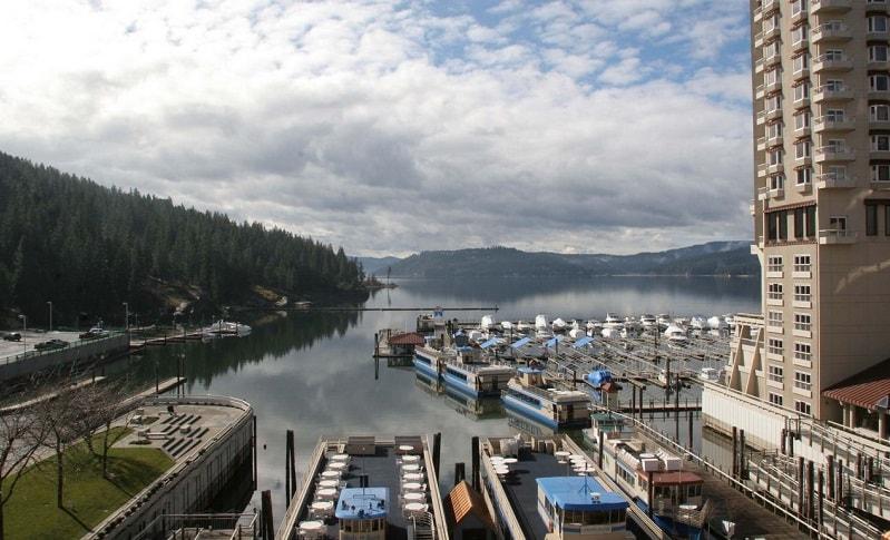 озеро Coeur d'Alene Айдахо США
