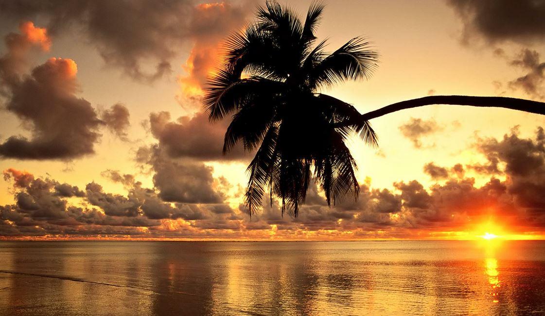 закат на Гавайях фото
