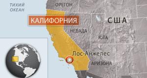 положение Калифорнии