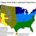 prirodny`e zony` ssha sostoiat iz 6 osnovny`kh zon