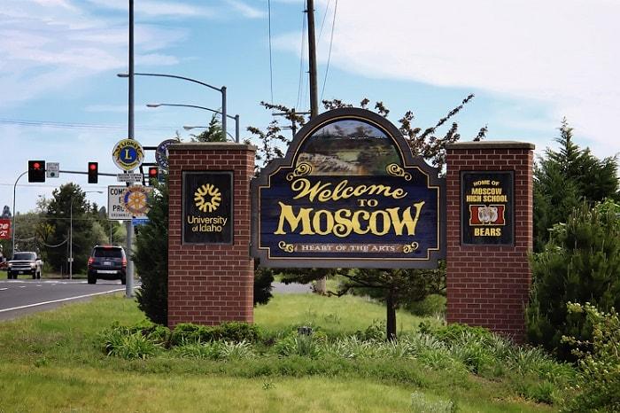 Москва, штат Айдахо сша фото