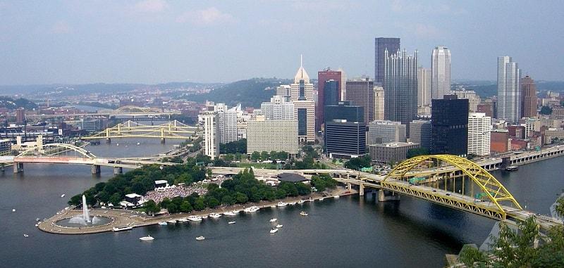 Золотой треугольник Питтсбург США фото
